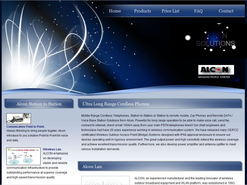 The new Alcon Website